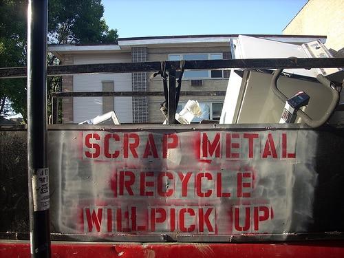 scrap metal truck logo