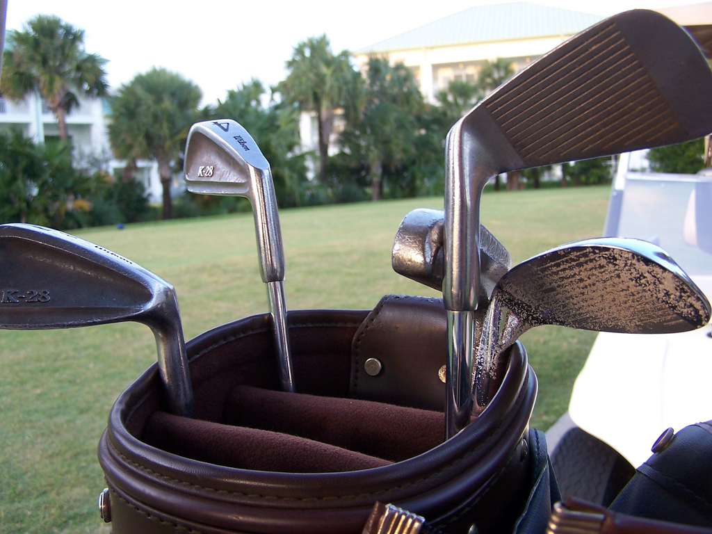 scrapping golf clubs