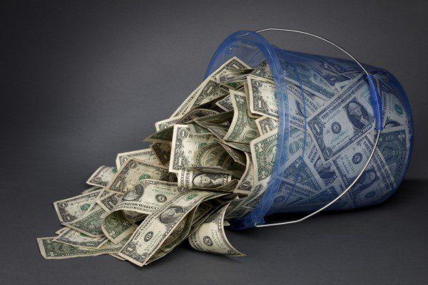 scrapping jar of money