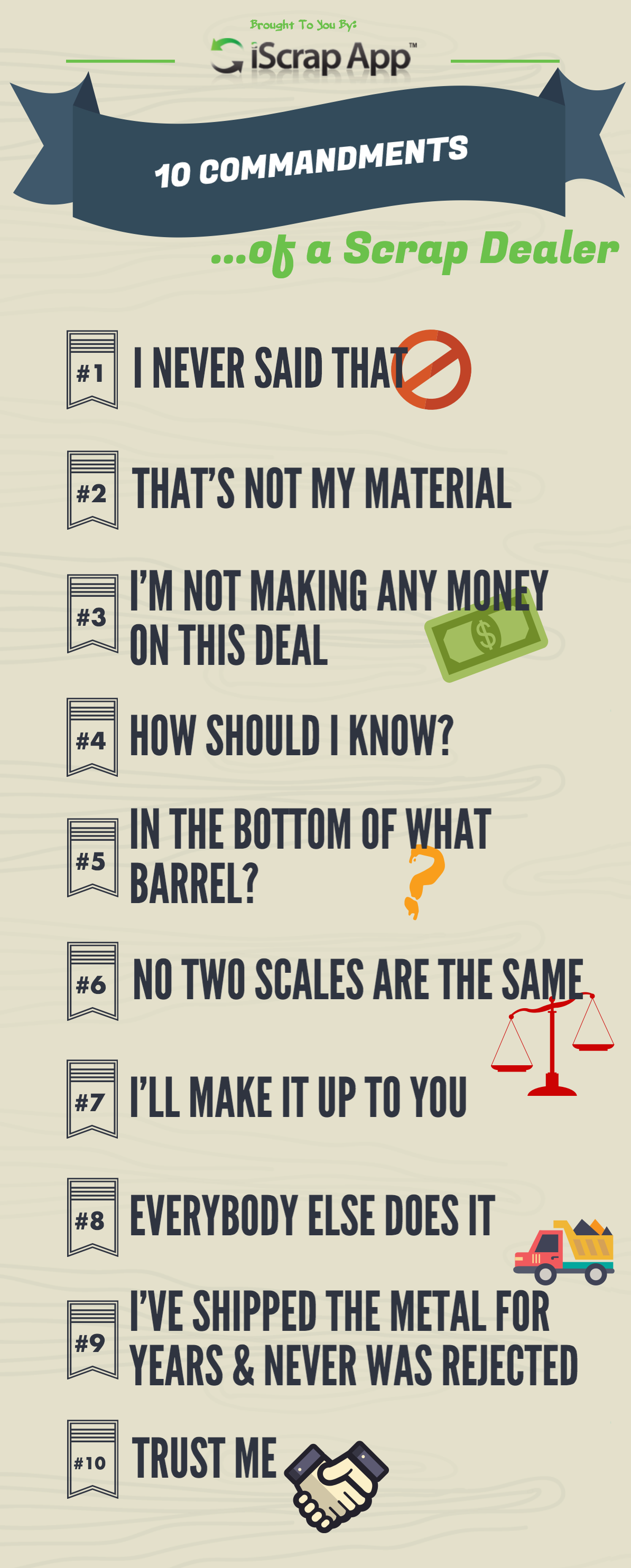 infographic] 10 commandments of a scrap dealer - iscrap app