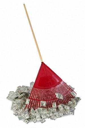 raking in scrap cash