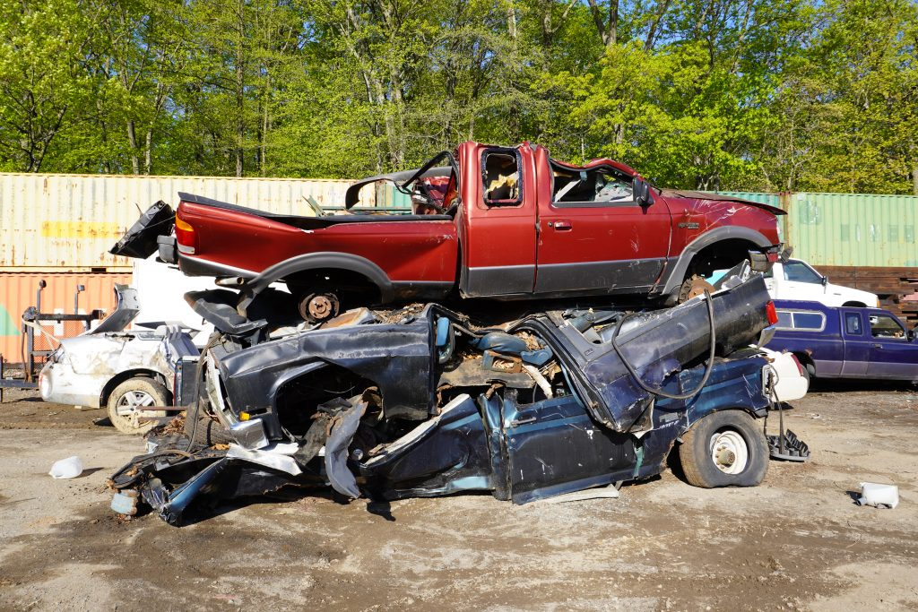 Photo of Crushed Cars