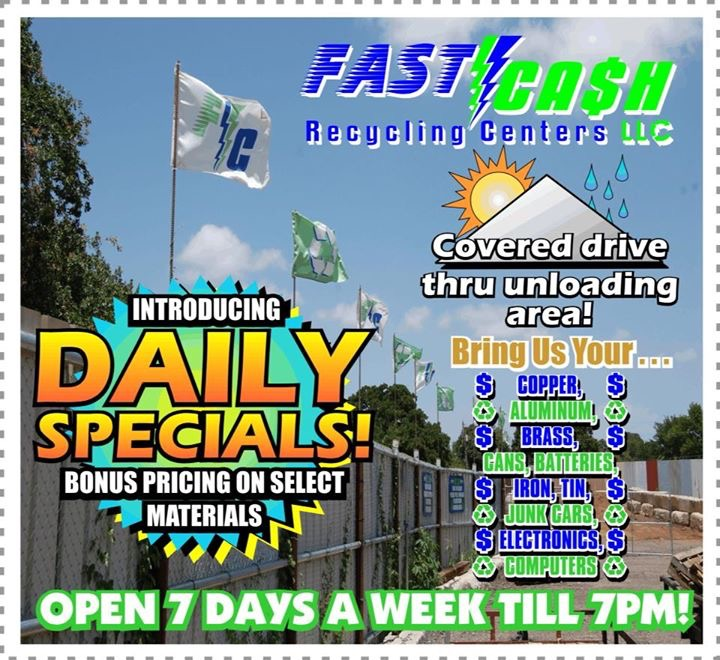 Fast Cash Recycling Center LLC., Scrap Metal Yard in Kennendale, Texas