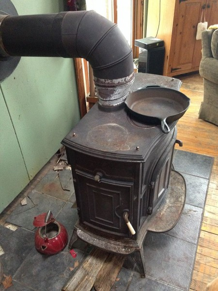 how to recycle a cast iron stove