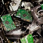 Scrapping the hard drives from computers