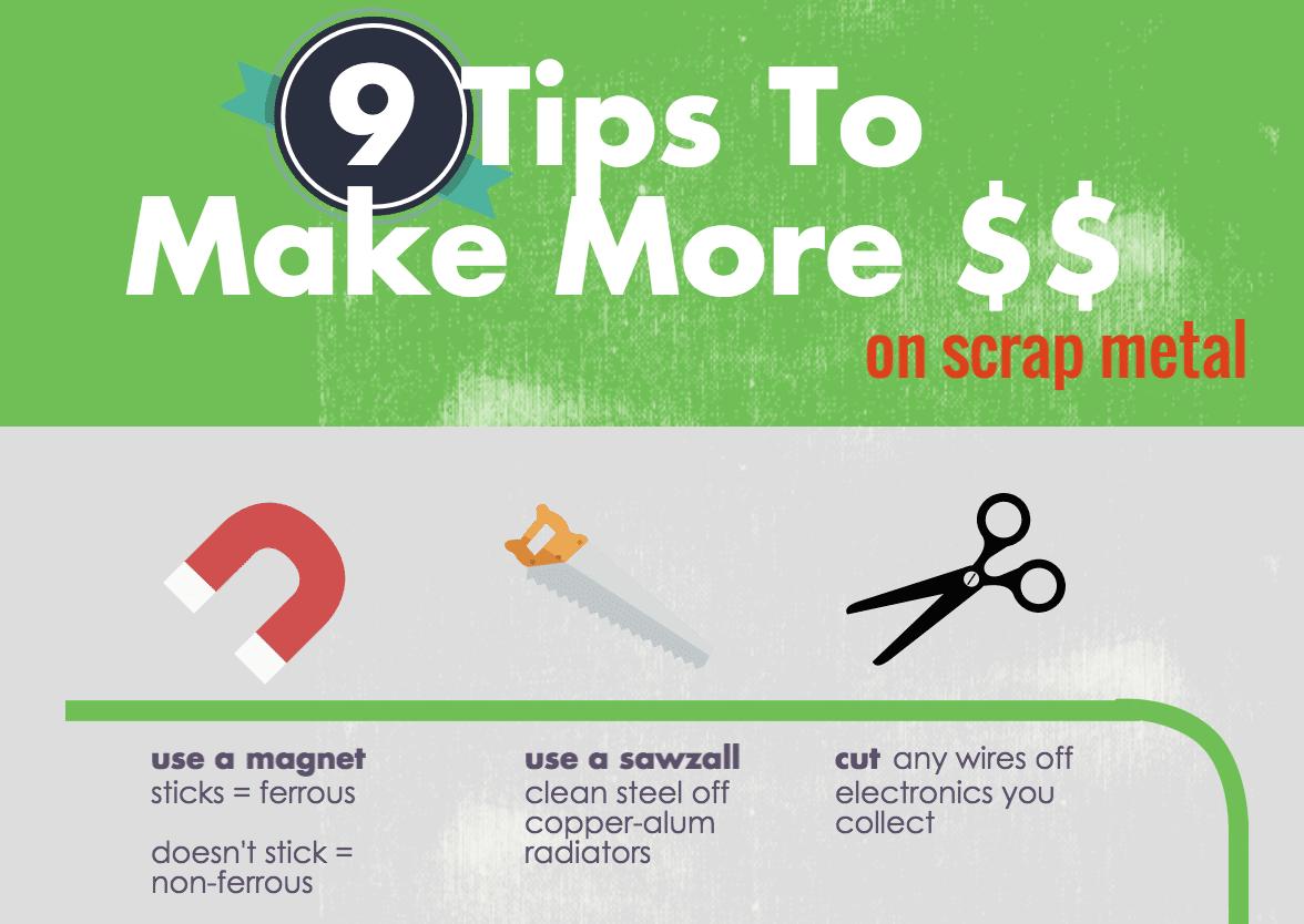 INFOGRAPHIC] 9 Tips To Make More Money on Scrap Metal - iScrap App