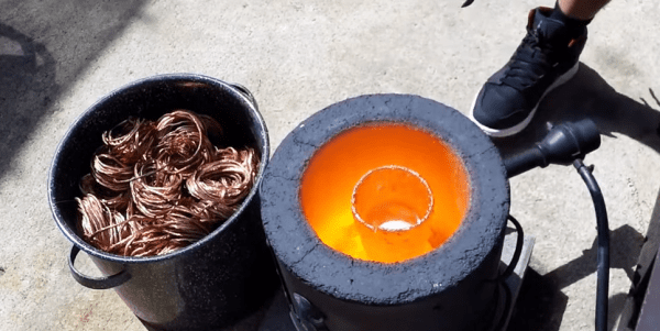 Melting Copper Wire for Big Mac