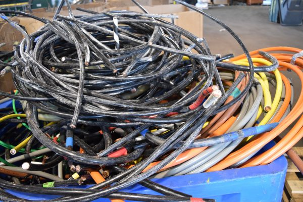 mixed scrap metal wires
