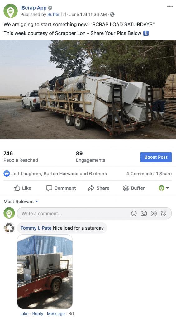 scrap load saturdays